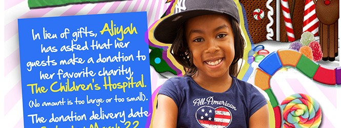 Aliyah's Gift To The Children's Hospital